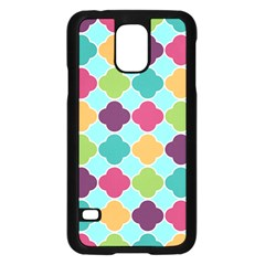 Colorful Quatrefoil Pattern Wallpaper Background Design Samsung Galaxy S5 Case (black) by Simbadda
