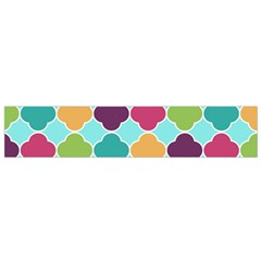 Colorful Quatrefoil Pattern Wallpaper Background Design Flano Scarf (small) by Simbadda