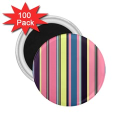 Seamless Colorful Stripes Pattern Background Wallpaper 2 25  Magnets (100 Pack)  by Simbadda