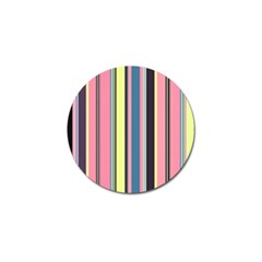 Seamless Colorful Stripes Pattern Background Wallpaper Golf Ball Marker (10 Pack) by Simbadda