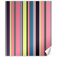 Seamless Colorful Stripes Pattern Background Wallpaper Canvas 8  X 10