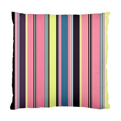 Seamless Colorful Stripes Pattern Background Wallpaper Standard Cushion Case (one Side) by Simbadda
