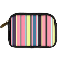 Seamless Colorful Stripes Pattern Background Wallpaper Digital Camera Cases by Simbadda