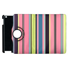 Seamless Colorful Stripes Pattern Background Wallpaper Apple Ipad 2 Flip 360 Case by Simbadda