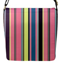 Seamless Colorful Stripes Pattern Background Wallpaper Flap Messenger Bag (s)