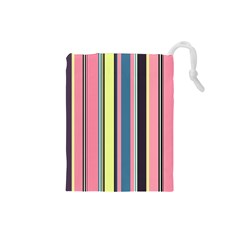 Seamless Colorful Stripes Pattern Background Wallpaper Drawstring Pouches (small)