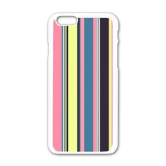 Seamless Colorful Stripes Pattern Background Wallpaper Apple Iphone 6/6s White Enamel Case by Simbadda
