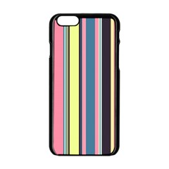 Seamless Colorful Stripes Pattern Background Wallpaper Apple Iphone 6/6s Black Enamel Case