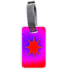 Pink Digital Computer Graphic Luggage Tags (one Side)  by Simbadda