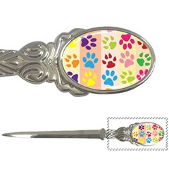 Colorful Animal Paw Prints Background Letter Openers