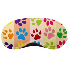 Colorful Animal Paw Prints Background Sleeping Masks by Simbadda