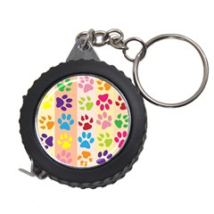 Colorful Animal Paw Prints Background Measuring Tapes by Simbadda