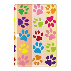 Colorful Animal Paw Prints Background Samsung Galaxy Tab Pro 12 2 Hardshell Case by Simbadda