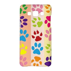Colorful Animal Paw Prints Background Samsung Galaxy A5 Hardshell Case