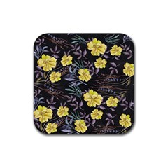 Wildflowers Ii Rubber Coaster (square)