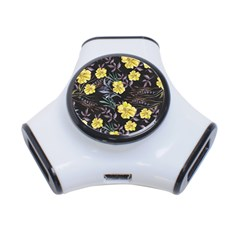 Wildflowers Ii 3 Port Usb Hub