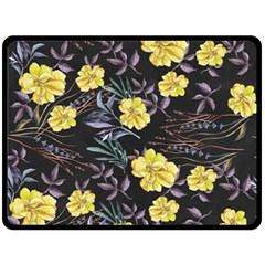 Wildflowers Ii Double Sided Fleece Blanket (large)
