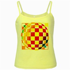 Squares Colored Background Yellow Spaghetti Tank