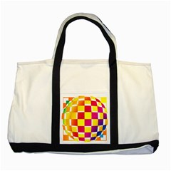 Squares Colored Background Two Tone Tote Bag by Simbadda
