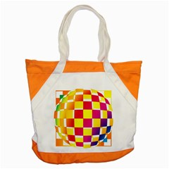 Squares Colored Background Accent Tote Bag by Simbadda