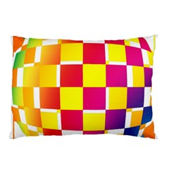 Squares Colored Background Pillow Case by Simbadda