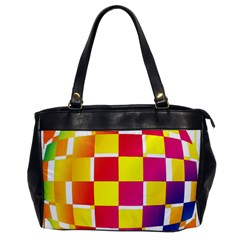 Squares Colored Background Office Handbags by Simbadda
