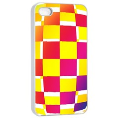 Squares Colored Background Apple Iphone 4/4s Seamless Case (white)