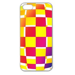 Squares Colored Background Apple Seamless Iphone 5 Case (clear) by Simbadda