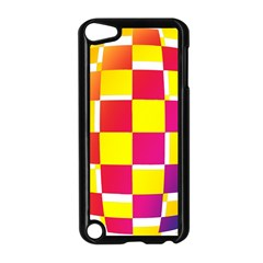 Squares Colored Background Apple Ipod Touch 5 Case (black) by Simbadda
