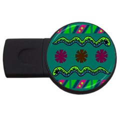 A Colorful Modern Illustration Usb Flash Drive Round (2 Gb) by Simbadda