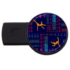 A Colorful Modern Illustration For Lovers Usb Flash Drive Round (2 Gb) by Simbadda