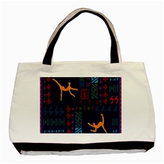 A Colorful Modern Illustration For Lovers Basic Tote Bag (two Sides) by Simbadda