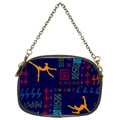 A Colorful Modern Illustration For Lovers Chain Purses (two Sides)  by Simbadda