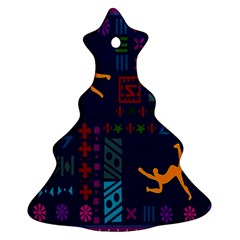 A Colorful Modern Illustration For Lovers Ornament (christmas Tree)  by Simbadda