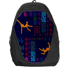 A Colorful Modern Illustration For Lovers Backpack Bag by Simbadda