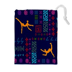 A Colorful Modern Illustration For Lovers Drawstring Pouches (extra Large) by Simbadda