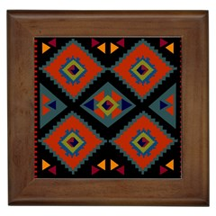 Abstract A Colorful Modern Illustration Framed Tiles by Simbadda