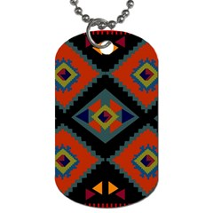 Abstract A Colorful Modern Illustration Dog Tag (one Side) by Simbadda