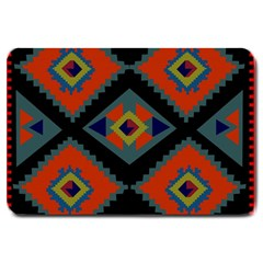 Abstract A Colorful Modern Illustration Large Doormat  by Simbadda