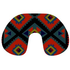 Abstract A Colorful Modern Illustration Travel Neck Pillows by Simbadda