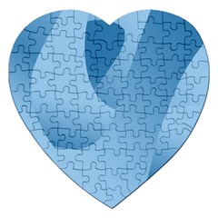 Abstract Blue Background Swirls Jigsaw Puzzle (heart) by Simbadda