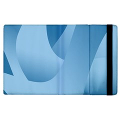 Abstract Blue Background Swirls Apple Ipad 2 Flip Case by Simbadda