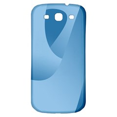 Abstract Blue Background Swirls Samsung Galaxy S3 S Iii Classic Hardshell Back Case by Simbadda
