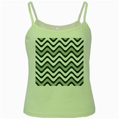 Shades Of Grey And White Wavy Lines Background Wallpaper Green Spaghetti Tank by Simbadda