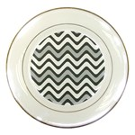 Shades Of Grey And White Wavy Lines Background Wallpaper Porcelain Plates Front