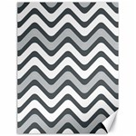 Shades Of Grey And White Wavy Lines Background Wallpaper Canvas 18  x 24   24 x18  Canvas - 1