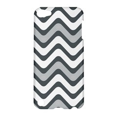 Shades Of Grey And White Wavy Lines Background Wallpaper Apple Ipod Touch 5 Hardshell Case by Simbadda