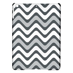 Shades Of Grey And White Wavy Lines Background Wallpaper Ipad Air Hardshell Cases by Simbadda