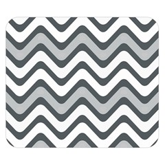 Shades Of Grey And White Wavy Lines Background Wallpaper Double Sided Flano Blanket (small)