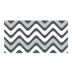 Shades Of Grey And White Wavy Lines Background Wallpaper Satin Wrap